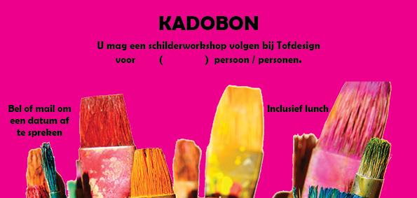 kadobon schilderworkshop met lunch